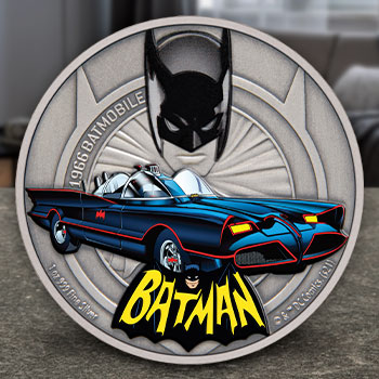 1966 Batmobile 1oz Silver Coin Silver Collectible