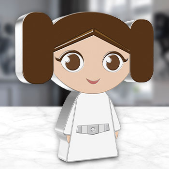 Princess Leia 1oz Silver Coin Silver Collectible