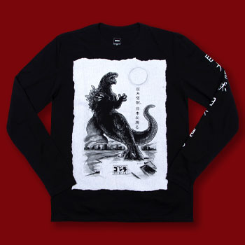 Godzilla Black Long Sleeve Apparel