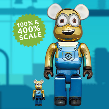 Be@rbrick Dave (Chrome Version) 100% and 400% Collectible Set
