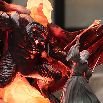 Balrog vs Gandalf Figural Light Collectible Lamp