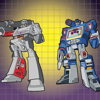 Megatron x Soundwave Retro Pin Set Collectible Pin