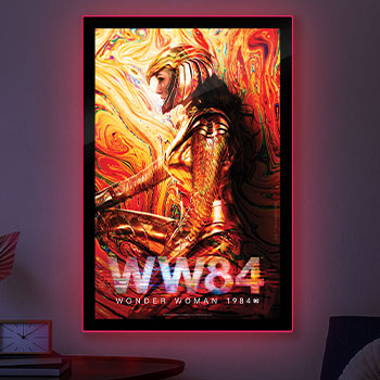 WW84 Wonder Woman LED Poster Sign (Large) Wall Light