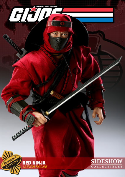 G I  Joe Red Ninja Sixth Scale Figure by Sideshow Collectibles