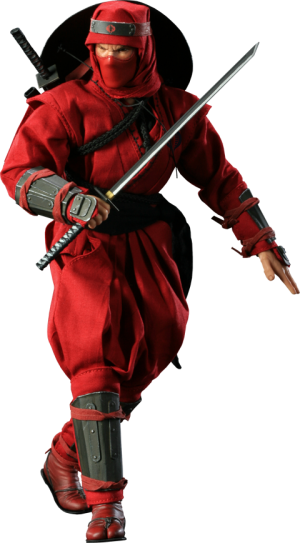 Red Ninja Sixth Scale Figure