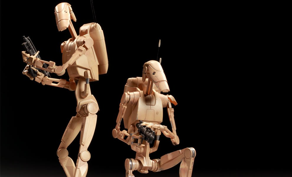 Gallery Feature Image of Infantry Battle Droids Sixth Scale Figure - Click to open image gallery
