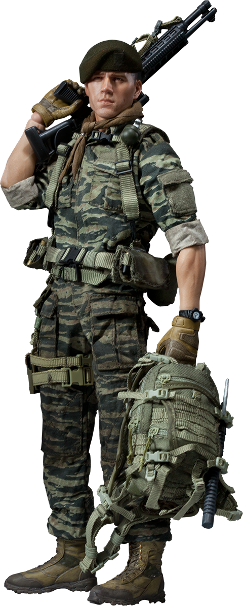 Sideshow Collectibles Green Beret - Lieutenant Falcon Sixth Scale Figure