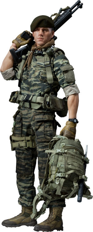 Green Beret - Lieutenant Falcon Sixth Scale Figure