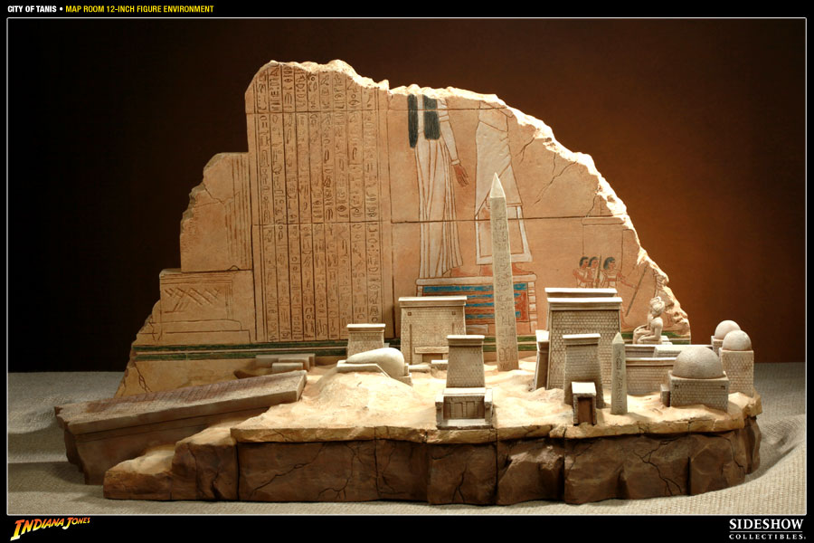 Tanis Egypt Map.Indiana Jones City Of Tanis Map Room Sixth Scale Figure En Sideshow