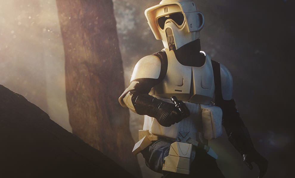 Gallery Feature Image of Scout Trooper Sixth Scale Figure - Click to open image gallery