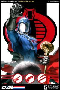 Gallery Image of Cobra Commander Sixth Scale Figure