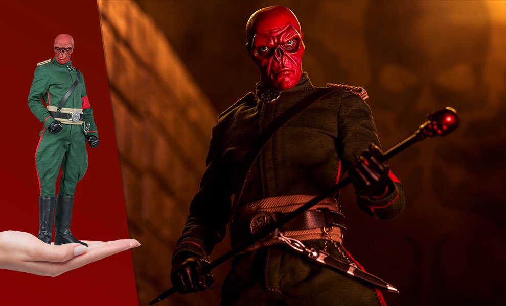Gallery Feature Image of Red Skull Sixth Scale Figure - Click to open image gallery