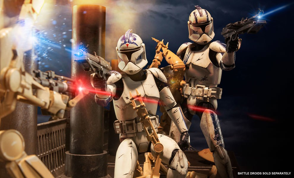Gallery Feature Image of Clone Troopers: Echo and Fives Sixth Scale Figure - Click to open image gallery