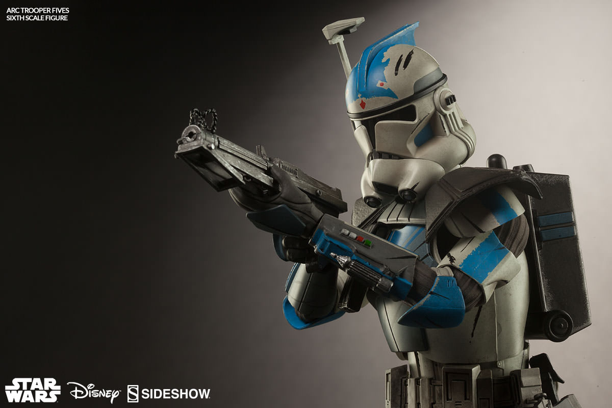 star wars arc clone trooper fives phase ii armor sixth scal sideshow