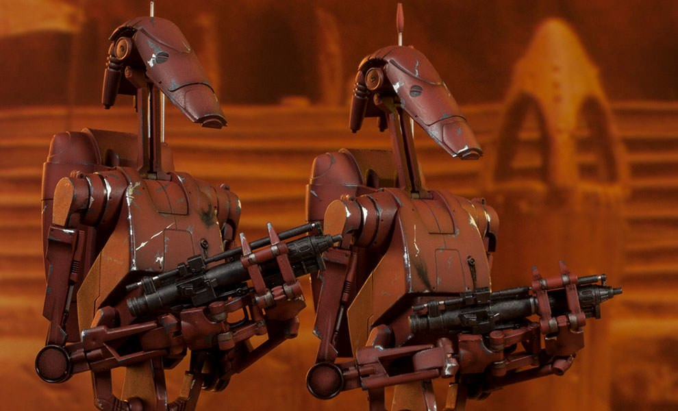 Gallery Feature Image of Geonosis Infantry Battle Droids Sixth Scale Figure - Click to open image gallery