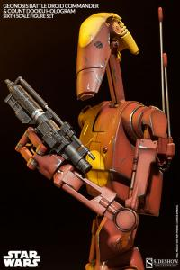 Gallery Image of Geonosis Commander Battle Droid and Count Dooku Hologram Sixth Scale Figure