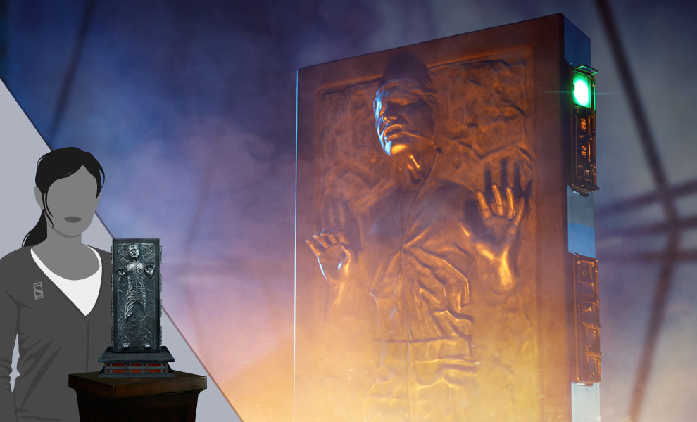 Gallery Feature Image of Han Solo in Carbonite Sixth Scale Figure - Click to open image gallery