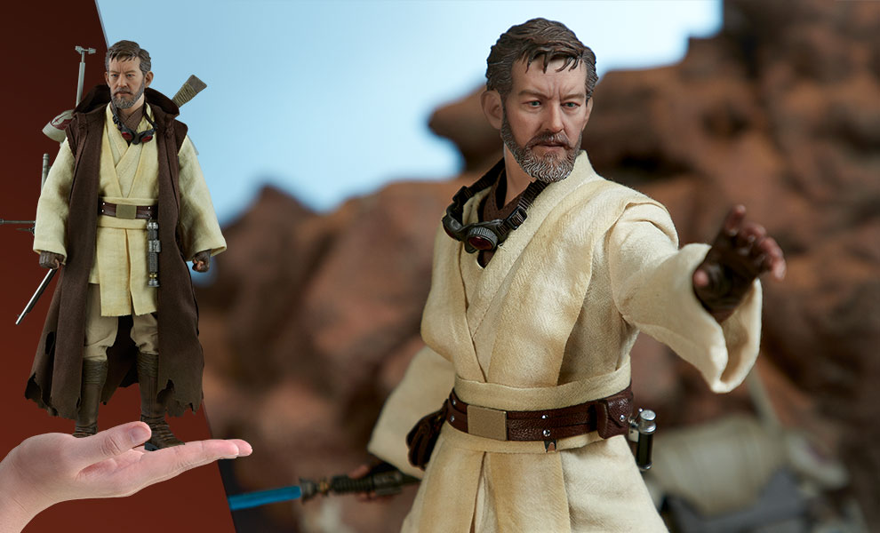 "High Quality 1//6 Obi-Wan Kenobi Head Sculpt For 12/"" Figure Hot Toys Star Wars"