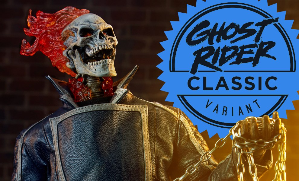 Gallery Feature Image of Ghost Rider - Classic Variant Sixth Scale Figure - Click to open image gallery