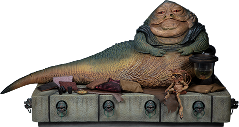 Sideshow Collectibles Jabba the Hutt and Throne Deluxe Sixth Scale Figure