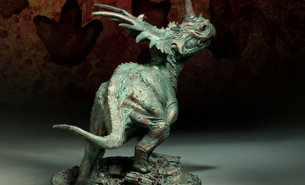 Gallery Feature Image of Styracosaurus - Faux Bronze Edition Maquette - Click to open image gallery