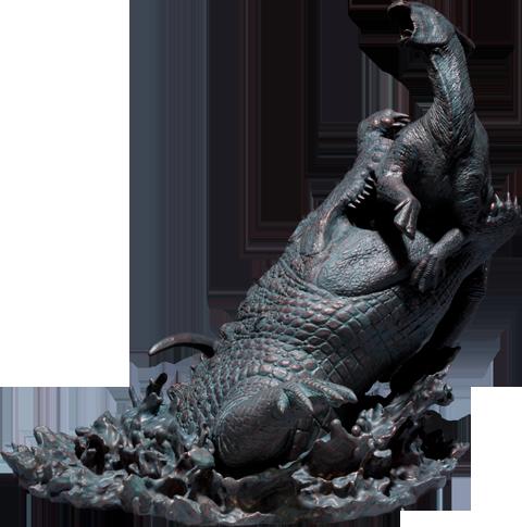 Sideshow Collectibles Deinosuchus VS Parasaurolophus Polystone Diorama