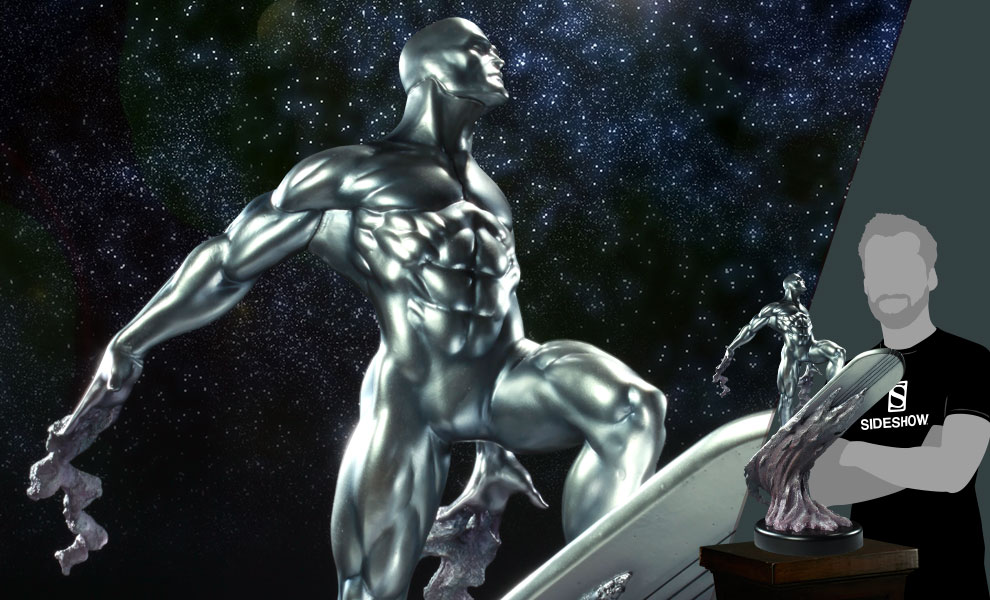 Gallery Feature Image of Silver Surfer Polystone Statue - Click to open image gallery