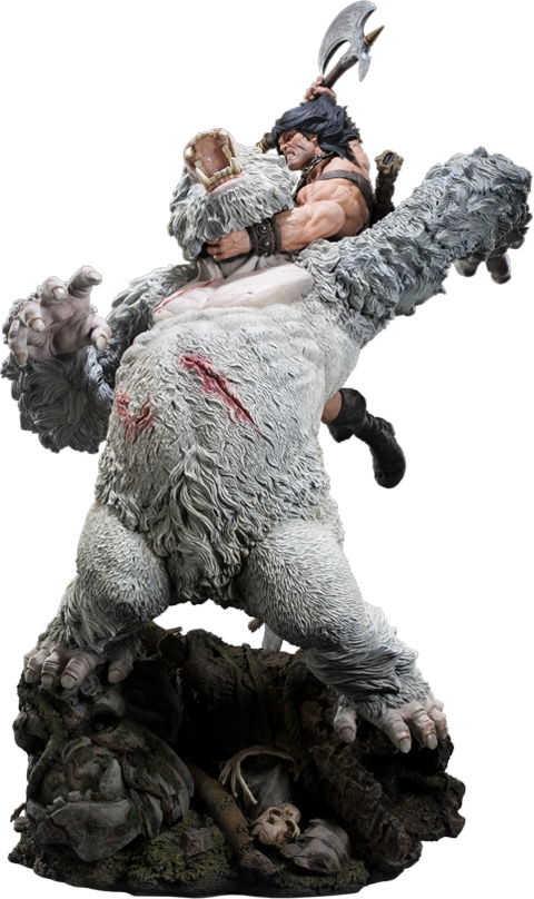 Sideshow Collectibles Conan the Barbarian: Fury of the Beast Polystone Diorama