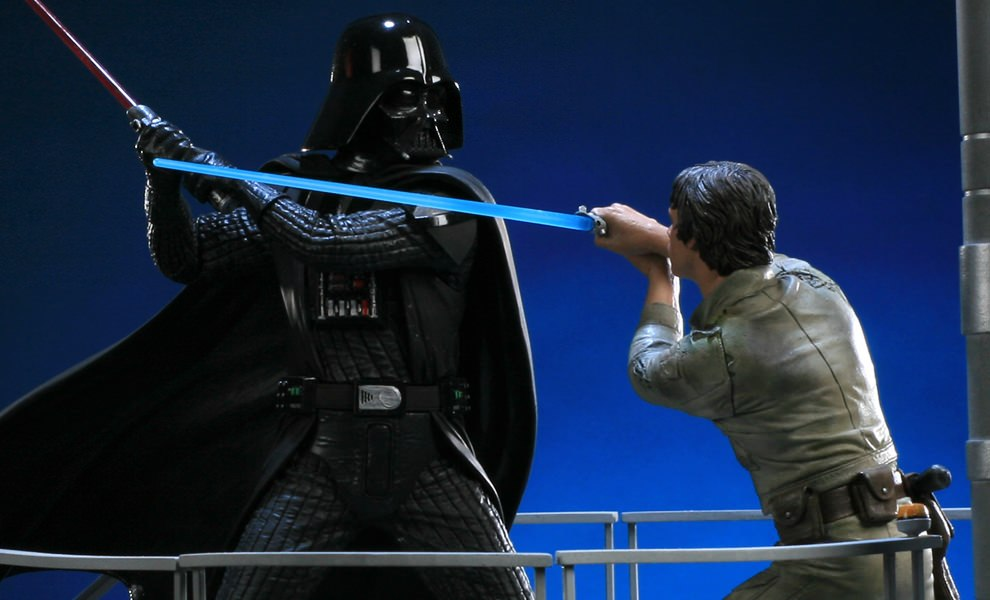 Gallery Feature Image of I Am Your Father - Luke Skywalker VS Darth Vader on Bespin Polystone Diorama - Click to open image gallery