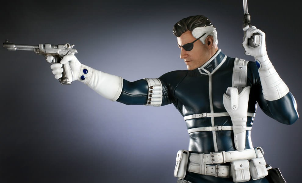 Gallery Feature Image of Nick Fury Polystone Statue - Click to open image gallery