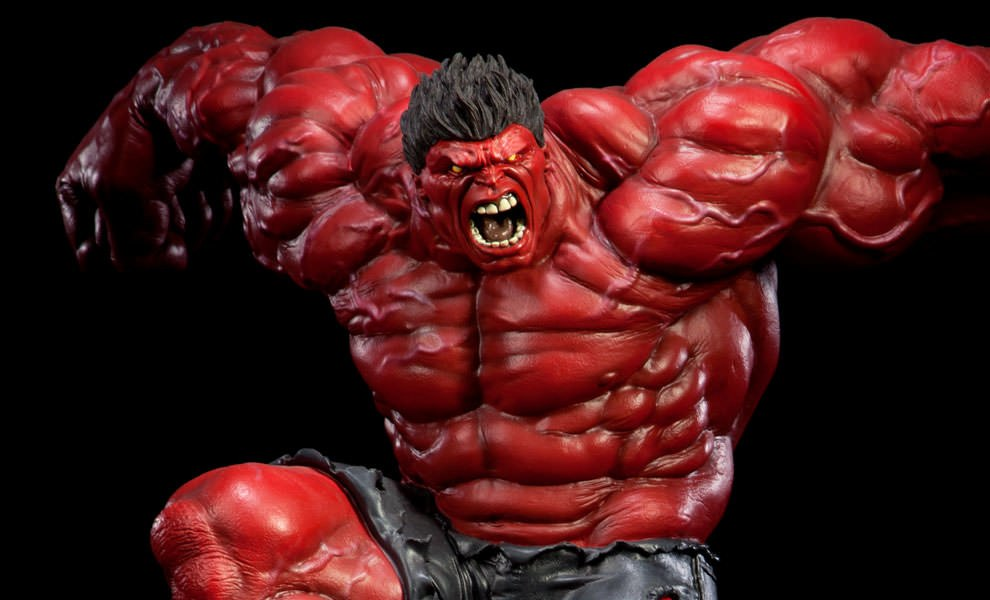 Gallery Feature Image of Red Hulk Polystone Statue - Click to open image gallery