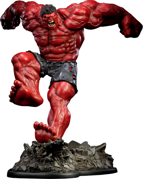 Sideshow Collectibles Red Hulk Polystone Statue