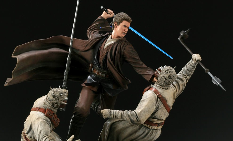 Gallery Feature Image of Revenge of the Jedi - Anakin Skywalker VS Tusken Raiders Polystone Diorama - Click to open image gallery