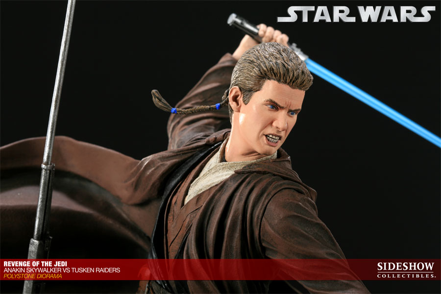 Star Wars Revenge of the Jedi - Anakin Skywalker VS Tusken Raiders  Polystone Diorama by Sideshow Collectibles