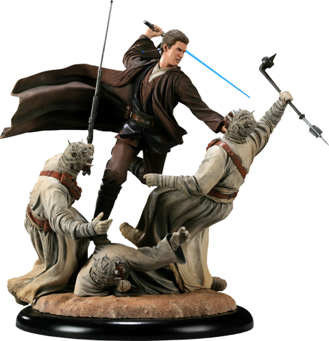 Sideshow Collectibles Revenge of the Jedi - Anakin Skywalker VS Tusken Raiders Polystone Diorama