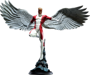 Red Angel Polystone Statue