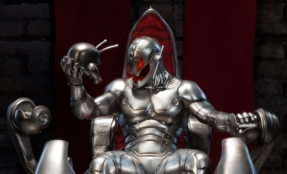 Gallery Feature Image of Classic Ultron on Throne Polystone Statue - Click to open image gallery