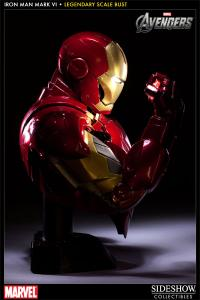 Gallery Image of Iron Man - Mark VI Legendary Scale™ Bust