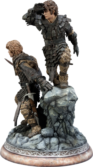Frodo and Samwise Polystone Statue