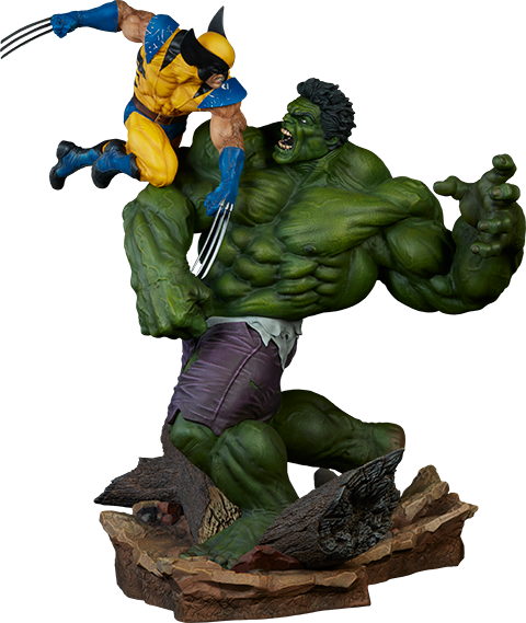 Sideshow Collectibles Hulk and Wolverine Maquette