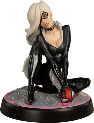 Black Cat Polystone Statue