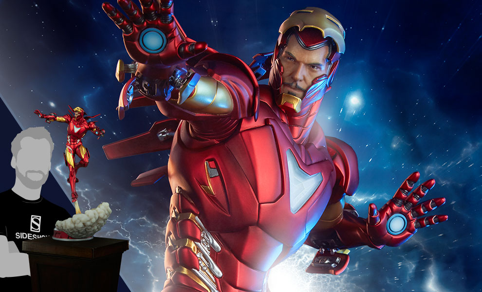 Gallery Feature Image of Iron Man Extremis Mark II Statue - Click to open image gallery