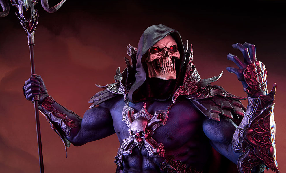 Gallery Feature Image of Skeletor Statue - Click to open image gallery