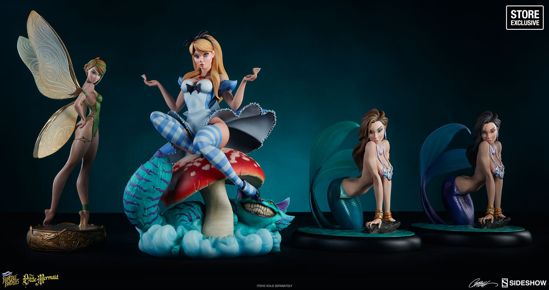 J Scott Campbell The Little Mermaid Statue by Sideshow Colle