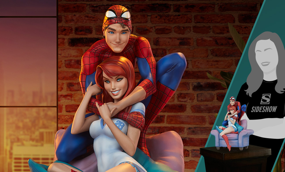 Gallery Feature Image of Spider-Man and Mary Jane Maquette - Click to open image gallery