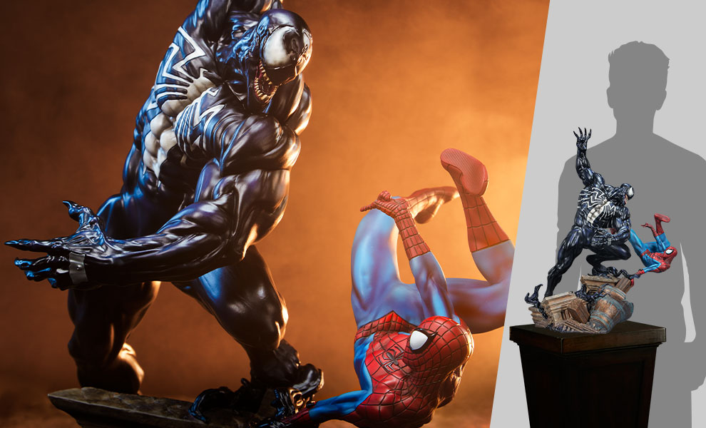 Gallery Feature Image of Spider-Man vs Venom Maquette - Click to open image gallery