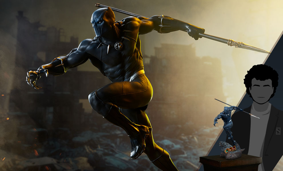 Gallery Feature Image of Black Panther Statue - Click to open image gallery