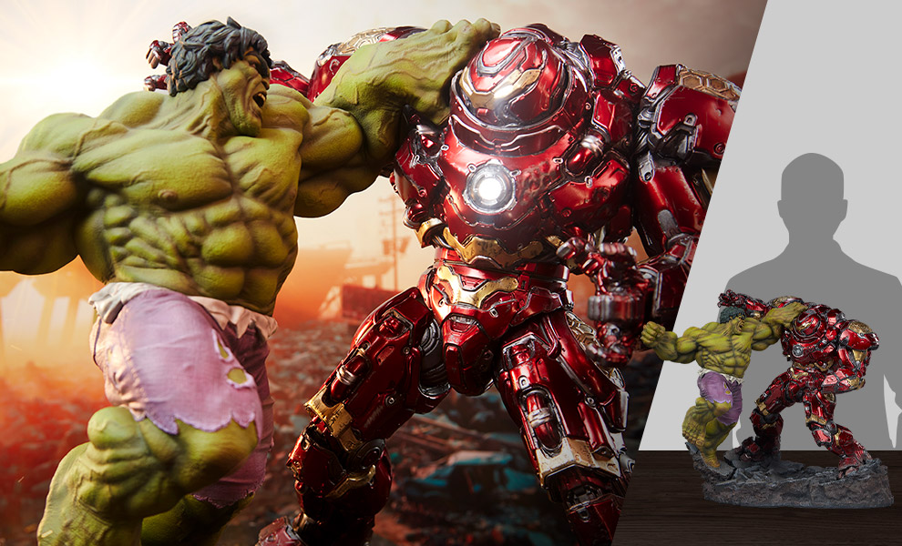 Gallery Feature Image of Hulk vs Hulkbuster Maquette - Click to open image gallery