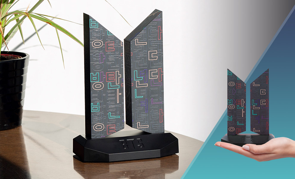 Gallery Feature Image of Premium BTS Logo: Hangeul Edition Replica - Click to open image gallery