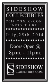 Gallery Image of 2014 Sideshow Comic-Con Party Ticket Ticket
